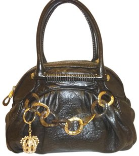 Juicy Couture Refurbished Leather Black. Hobo Bag