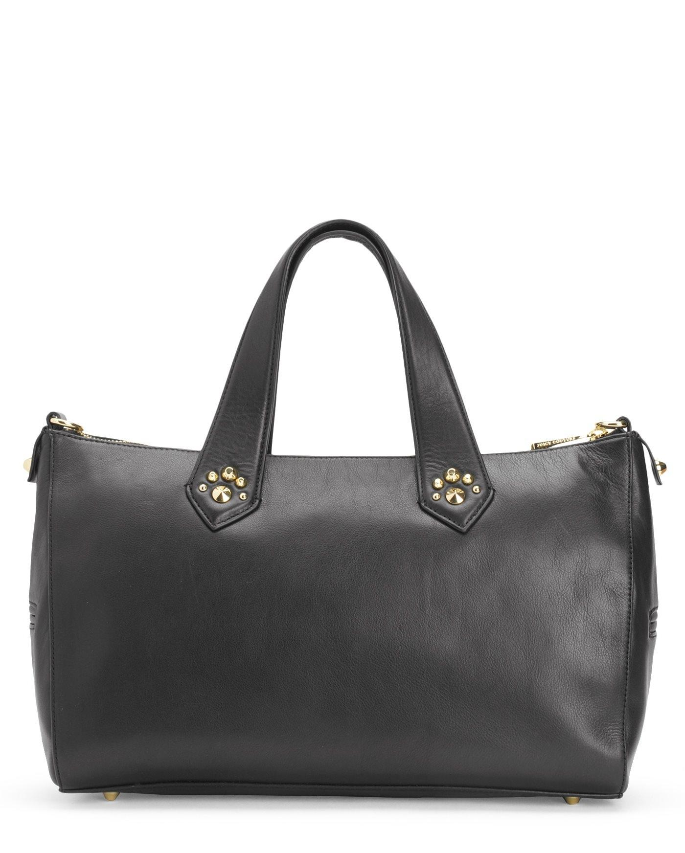 Juicy Couture Hollywood Leather Black Satchel on Sale, 45% Off ...
