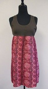 Juicy Couture short dress Red Brown Paisley Bottom Sleeveless Razor Back R711 on Tradesy