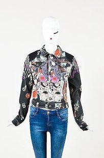 Just Cavalli Multicolor Black Jacket