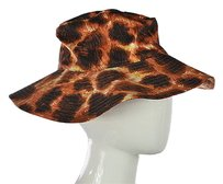 Just Cavalli Just Cavalli Womens Orange Printed Bucket Hat Os Cotton Floppy Casual