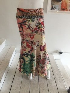 Just Cavalli Floral Printed Full Maxi Skirt