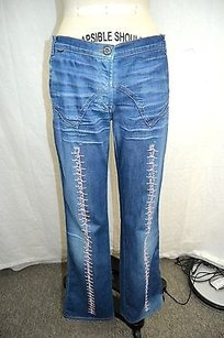 Just Cavalli Med Wash Pink Boot Cut Jeans