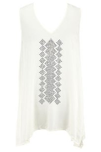 Karen Kane Womens Top off-white