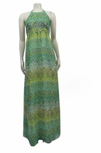 mint multi Maxi Dress by Karen Zambos Vintage Couture Mint Charlie Printed Maxi