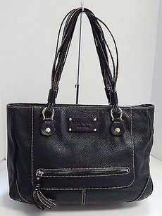 Kate Spade Pebbled Leather Tote in Black