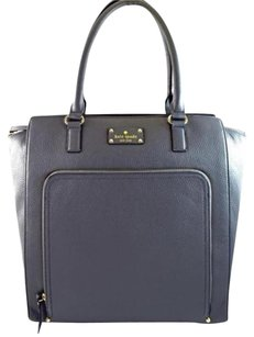 Kate Spade Leather Fernrose Tote in Gray