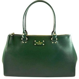 Kate Spade Leather Martine Tote in Green
