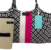 Kate Spade Baby Diaper Bag. New with Tags black pink wite Diaper Bag