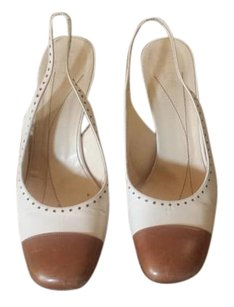 Kate Spade Capped Toe Two-tone Dots Cream Sandals