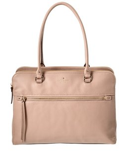Kate Spade Business Laptop Travel Leather Tote in Rose Cloud