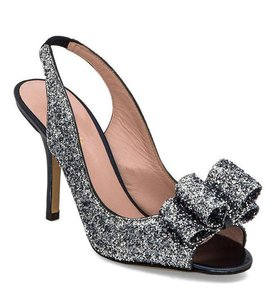 Kate Spade Glitter Sparkle Night Out Date Night Silver, Black Pumps