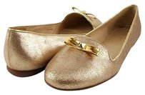 kate spade Treat Old Liquid Suede Womens Designer Smoking Gold Flats