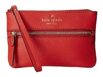 Kate Spade Kate Spade Cobble Hill Geranium Pebbled Leather Bee Wristlet