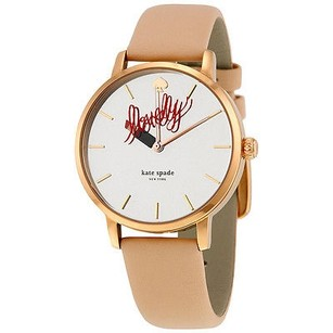 Kate Spade Kate Spade Metro Vachetta Silver Dial Leather Ladies Watch