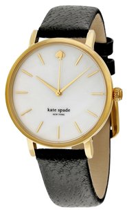 Kate Spade KATE SPADE Mother of Pearl Dial Black Leather Ladies Watch