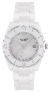 Kate Spade KATE SPADE Women's White Ceramic Mother Of Pearl Dial Watch