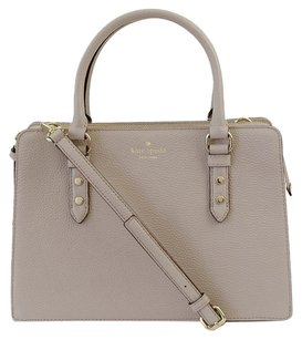 Kate Spade Leather Satchel in Moussfrost
