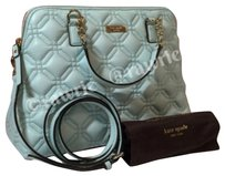 Kate Spade Nwt New Quilted Leather Pale Baby Pastel Astor Court Small Rachelle Domed Classic Chain Convertible Crossbody Strap Satchel in Blue