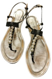 Kate Spade Patent Leather Pearl Black Sandals