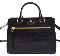 Kate Spade Leather Mini Romy Satchel in Black