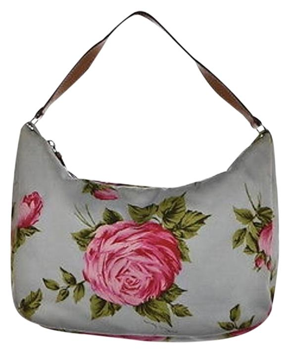 Kate Spade Womens Blue Shoulder Bag Floral Textile Casual Handbag Purse | Shoulder Bags On Sale