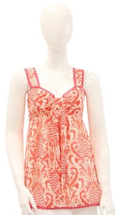 Kate Spade Sleeveless Preppy Pineapple Printed Cute Top Pink, Orange, White