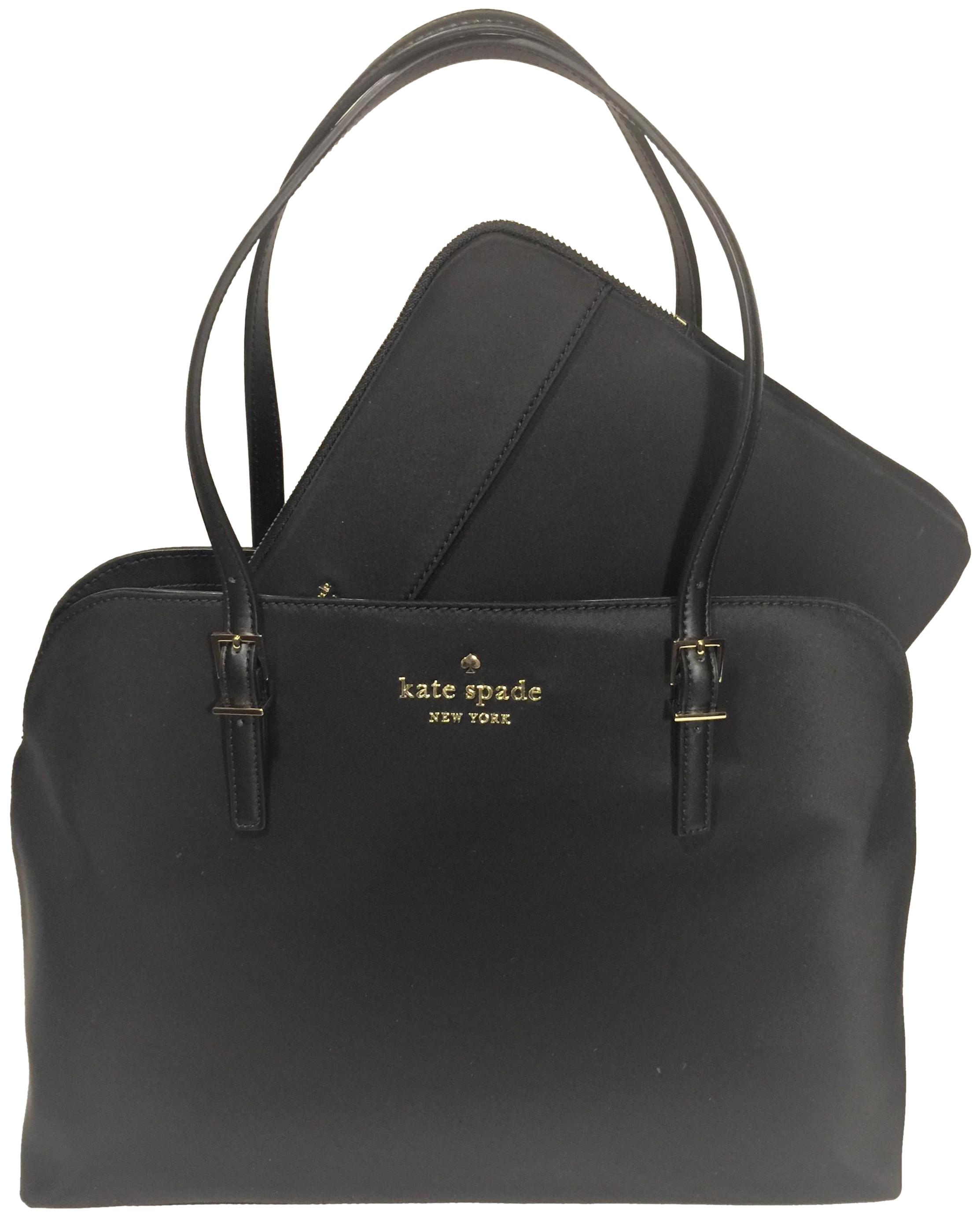 Kate Spade Watson Lane Marybeth Computer Black Nylon Laptop Bag