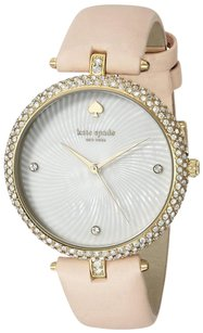 Kate Spade Women's Eldridge Beige And Gold Pearl Dial Watch KSW1013