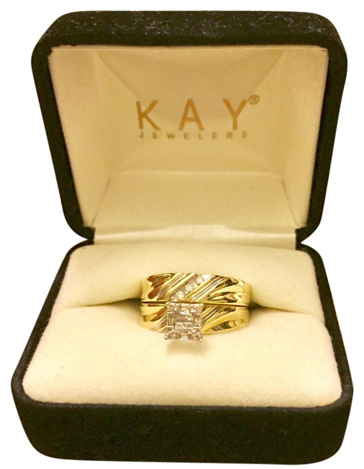 Kay Jewelers 14K Gold Dimond 2 Ring Set