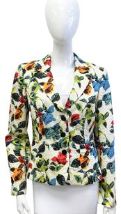 Kay Unger Floral Colorful Multicolor Blazer