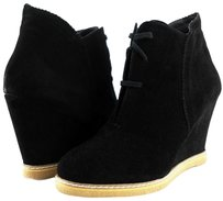 Kelsi Dagger Helix Black Suede Womens Designer Lace Up Fashion Ankle Chocolate Boots