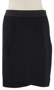 Kenneth Cole Ny Womens Faux Wrap Knee Length Skirt Black