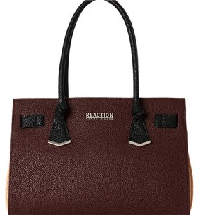 Kenneth Cole Reaction Satchel in burgundy and black