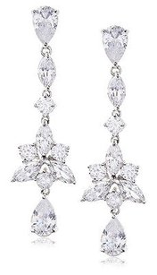 Kenneth Jay Lane Cz By Kenneth Jay Lane Linear Star Drop Dazzling Red Carpet Earrings