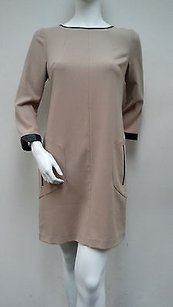 Kensie short dress Taupe Shift 34 Sleeve on Tradesy