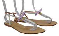 KG Kurt Geiger Womens Thong 4111 Ankle Strap Leather Casual White Sandals