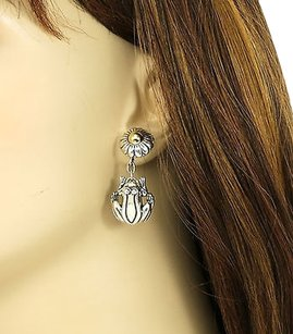 Kieselstein-Cord Kieselstein,Cord,Sterling,Silver,14k,Gold,3d,Frog,Earrings