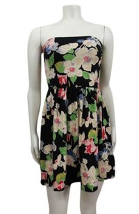 Kimchi Blue short dress multi Floral Bow Back Strapless Black Combo Urban Outfitters on Tradesy