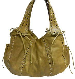 Kooba Leather Laced Hobo Bag