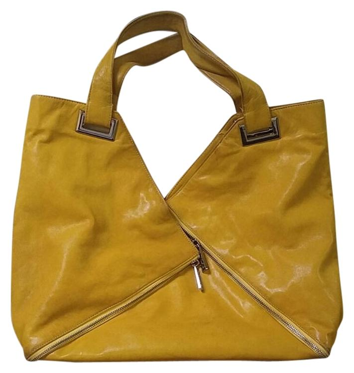 Kooba Yellow Leather Type Shoulder Hobo Bag