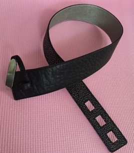 Kooba Kooba Belt Genuine Leather Black Silver Gray