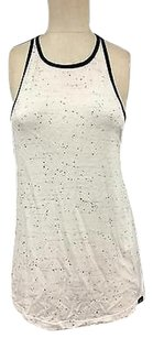 Koral White Black Fleck Sleeveless Cutout Racerback 5237a Top Multi-Color