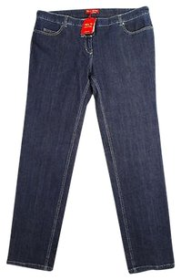 Krizia 27 Womens Blue Straight Leg Jeans