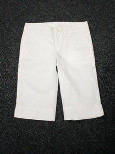 Lacoste Flat Front Solid Walking Sm1821 Bermuda Shorts White