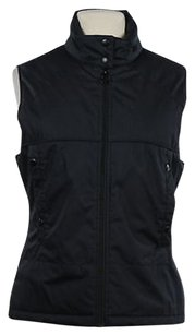 Lacoste Womens Navy Coat Jacket Sleeveless Outer Vest