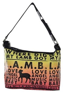L.A.M.B. Lamb Womens Orange Shoulder Bag