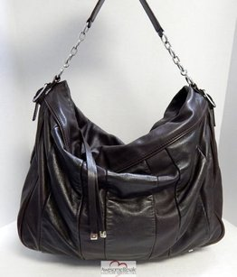 Lambertson Truex Leather Chain Slouch Italy Shoulder Bag