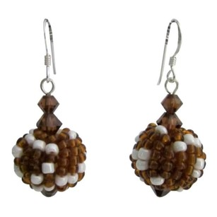 Lana Jewelry Handmade Bead Earring Best Gift Brown Combo
