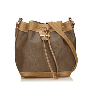 Lancel Beige Brown Leather Shoulder Bag